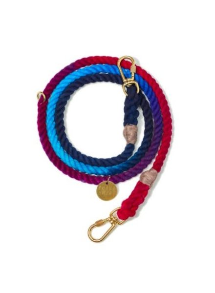 Found My Animal Dark Multi Ombre Cotton Rope Dog Leash, Adjustable