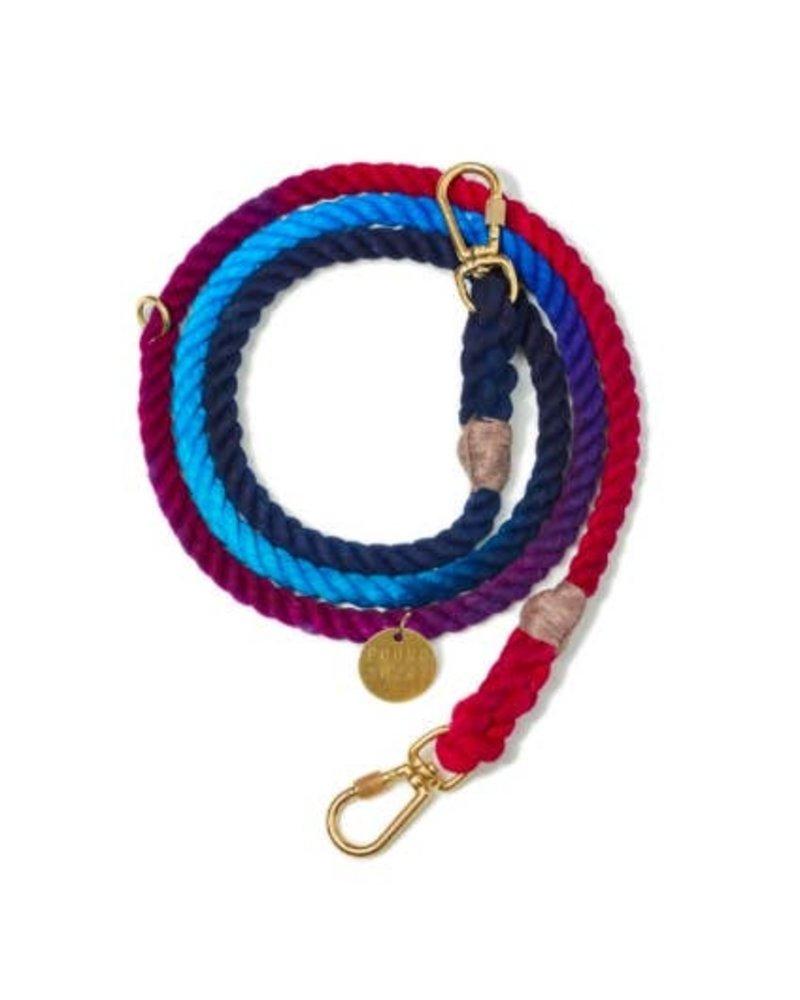 Found My Animal Dark Multi Ombre Cotton Rope Dog Leash, Adjustable