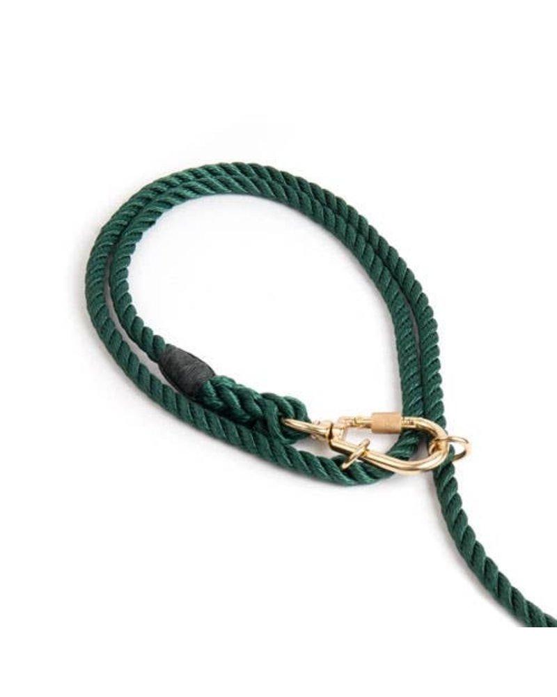 Found My Animal Hunter Green Rope Dog Leash, Adjustable
