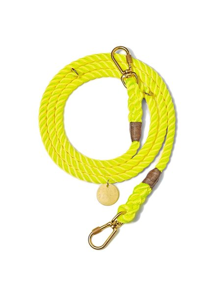 Found My Animal Neon Yellow Rope Dog Leash, Adjustable