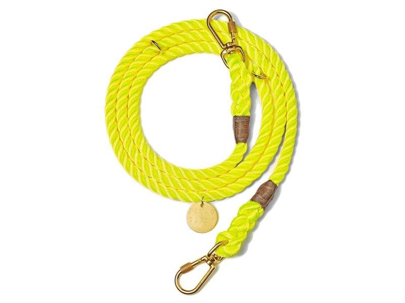Found My Animal Neon Yellow Rope Dog Leash, Adjustable