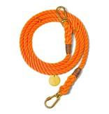 Found My Animal Rescue Orange Rope Dog Leash, Adjustable