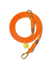 Found My Animal Rescue Orange Rope Dog Leash, Adjustable