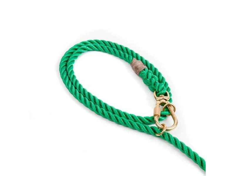 Found My Animal Adjustable Miami Green Rope Dog Leash