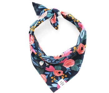 The Foggy Dog Rosa Floral Bandana, Navy