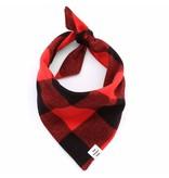 The Foggy Dog Check Flannel Bandana, Red/Black