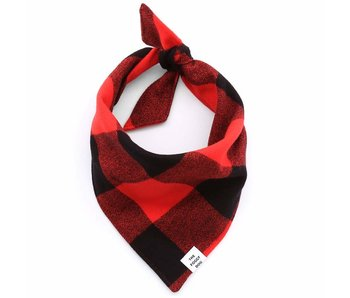 The Foggy Dog Check Flannel Bandana, Red/Black