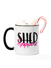 The Dapper Paw Shed Happens Mug