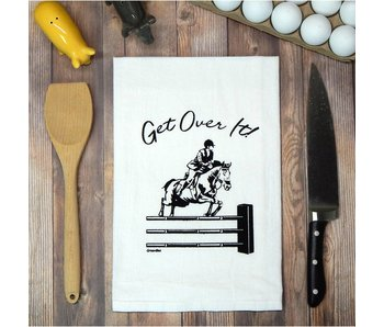 Green Bee KC Tea Towel, Get Over It (Horse)