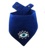 Woof + Wonder Co. Evil Eye Blue Velvet Bandana