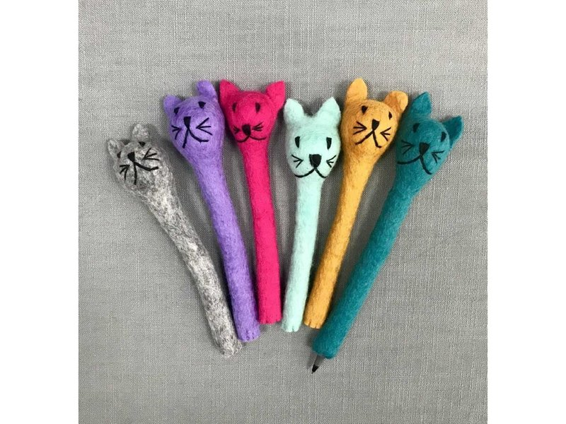The Winding Road Cat Pencil Topper