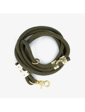 The Rover Boutique Marine Rope Leash, Olive