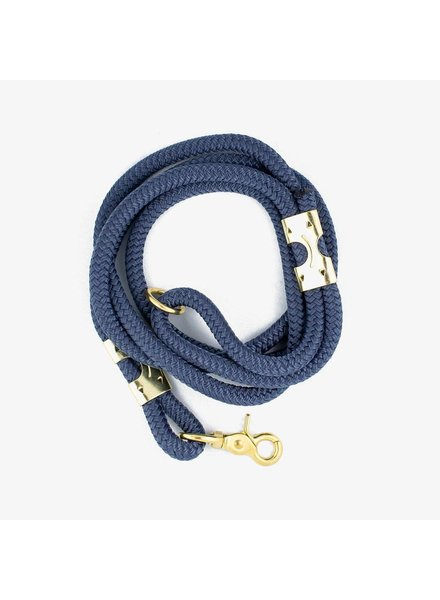 The Rover Boutique Marine Rope Leash, Navy