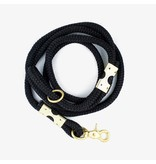 The Rover Boutique Marine Rope Leash, Black