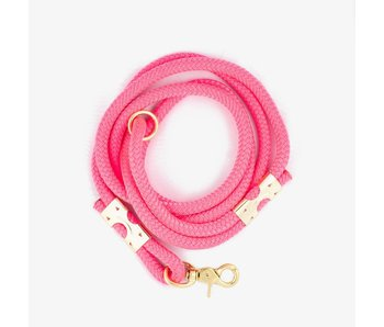 The Rover Boutique Marine Rope Leash, Pink