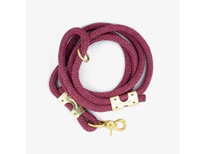 The Rover Boutique Marine Rope Leash, Berry