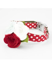 The Rover Boutique Red Dot Flower Collar