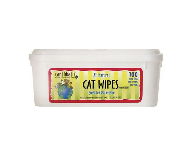 earthbath Green Tea Grooming Wipes for Cat