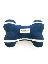 The Foggy Dog Navy Stripe Bone Toy