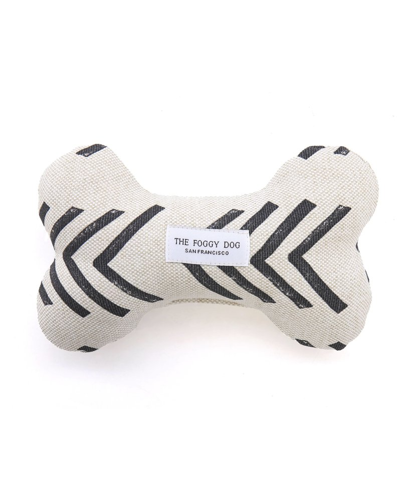 The Foggy Dog Modern Mud Cloth Bone Toy