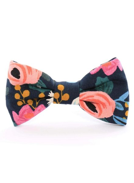 The Foggy Dog Rosa Floral Bow Tie, Navy