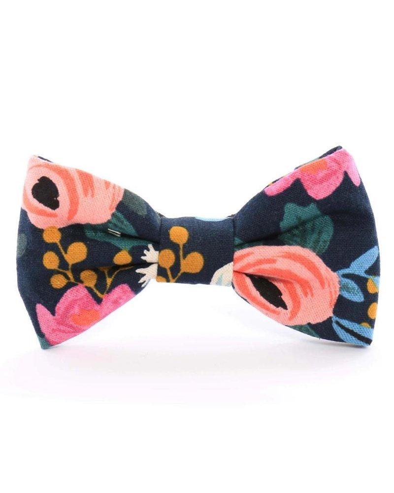 The Foggy Dog Rosa Floral Bow Tie, Navy