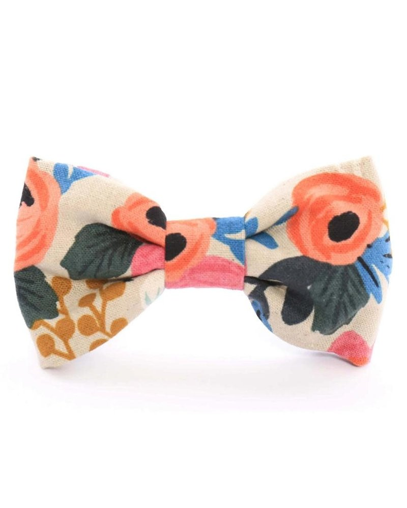 The Foggy Dog Rosa Floral Bow Tie, Natural