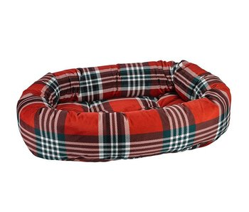 Bowsers Donut Bed, Tartan Plaid