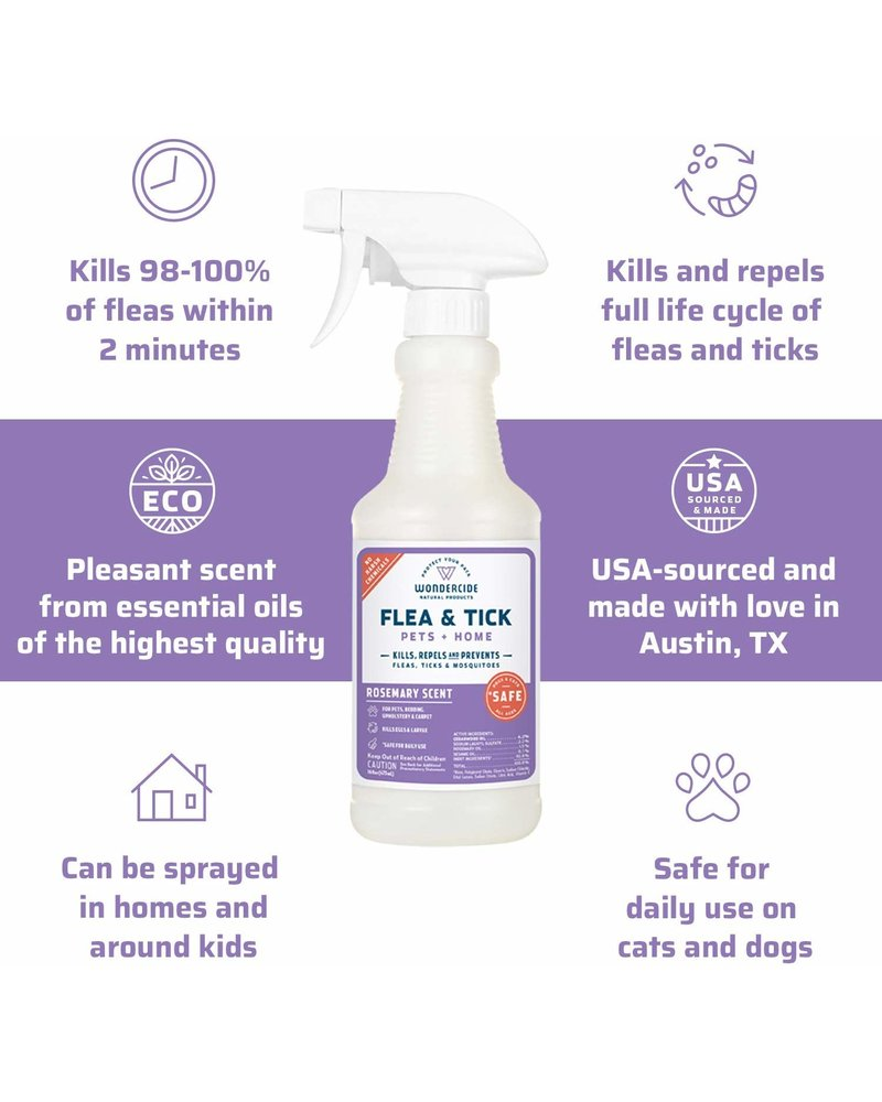 Wondercide Flea & Tick Spray for Pets + Home - Rosemary