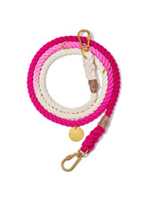 Found My Animal Magenta Ombre Rope Dog Leash, Adjustable