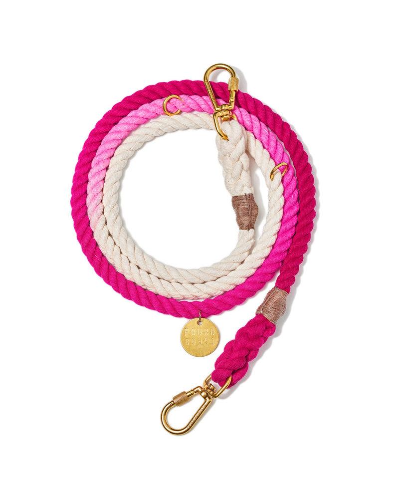 Found My Animal Magenta Ombre Rope Dog Leash, Adjustable