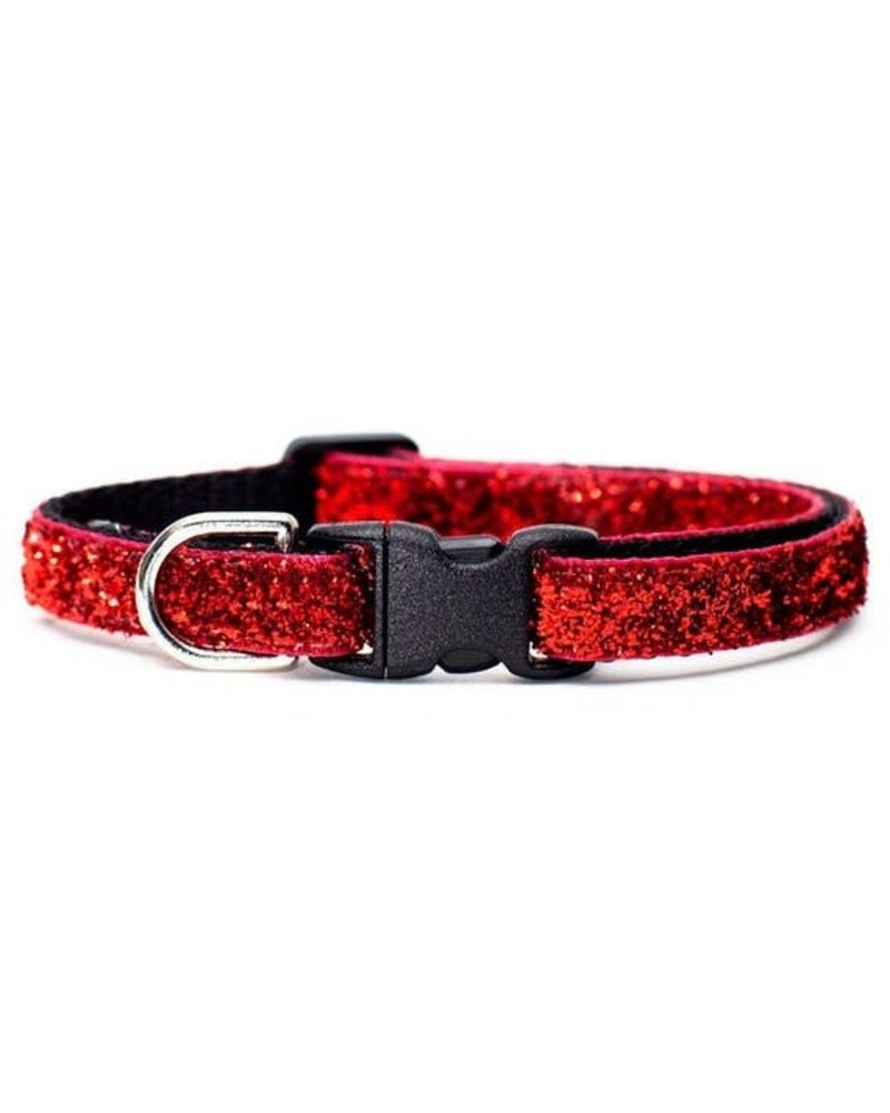 Sweet Pickles Designs Red Glitter Cat Collar