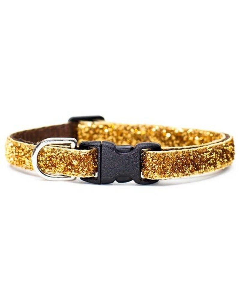 Sweet Pickles Designs Gold Glitter Cat Collar