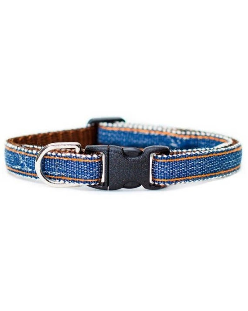 Sweet Pickles Designs Blue Denim Cat Collar