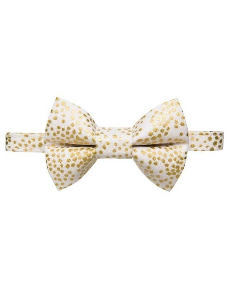 Sweet Pickles Designs Bow Tie Cat Collar, Gold Dot