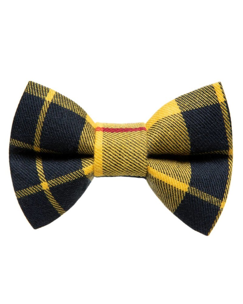 "Sweet Pickles Designs Bow-Tie, ""As If"" Yellow Plaid"