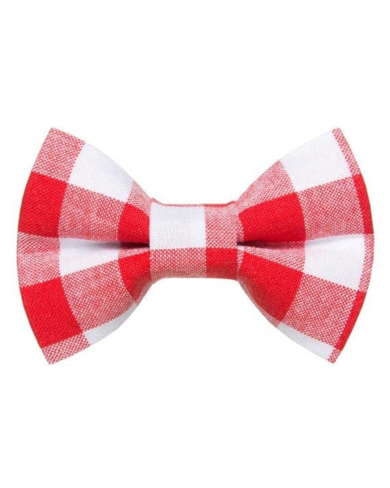 Sweet Pickles Designs Bow-Tie, Red & White Check