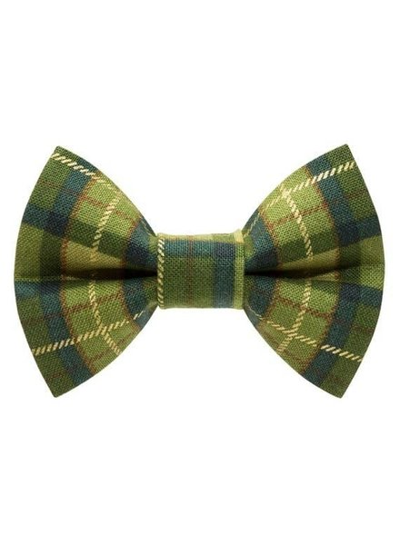 "Sweet Pickles Designs Bow-Tie, ""Trendsetter"" Green Plaid"