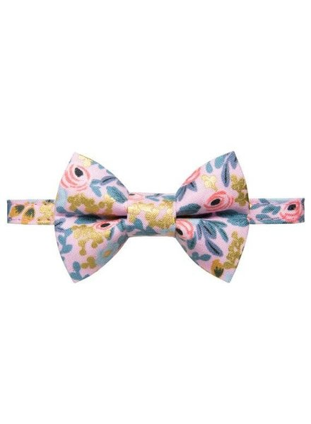 Sweet Pickles Designs Bow Tie Cat Collar, Pink Floral
