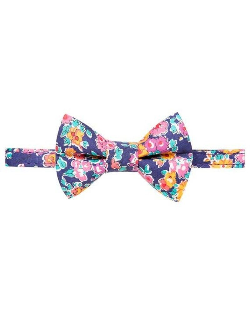 Sweet Pickles Designs Bow Tie Cat Collar, Purple Floral