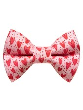"Sweet Pickles Designs Bow-Tie, ""Secret Admirer"" Pink Red Hearts"