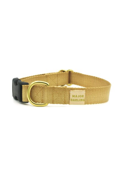 Major Darling Gold Webbing Collar