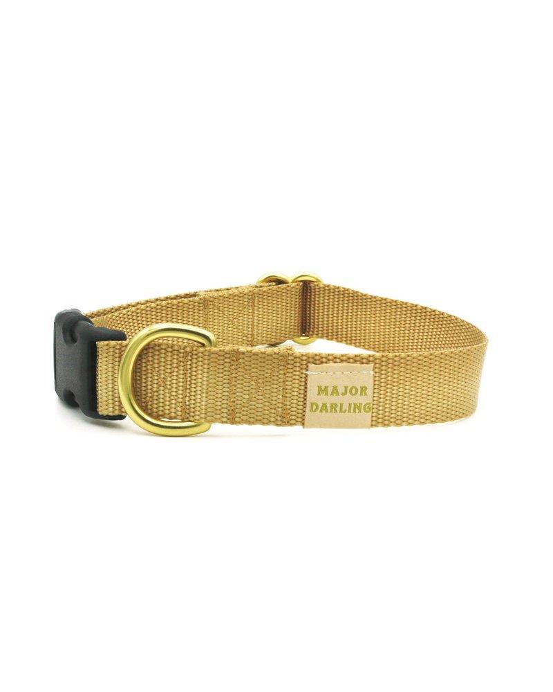 Major Darling Gold Webbing Collar