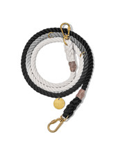 Found My Animal Black Ombre Rope Dog Leash, Adjustable