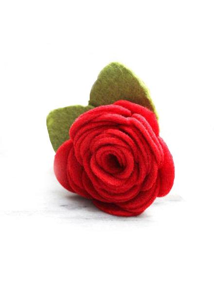 Mimi Green Rose Collar Flower