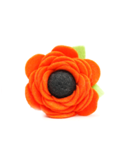 Mimi Green Poppy Collar Flower