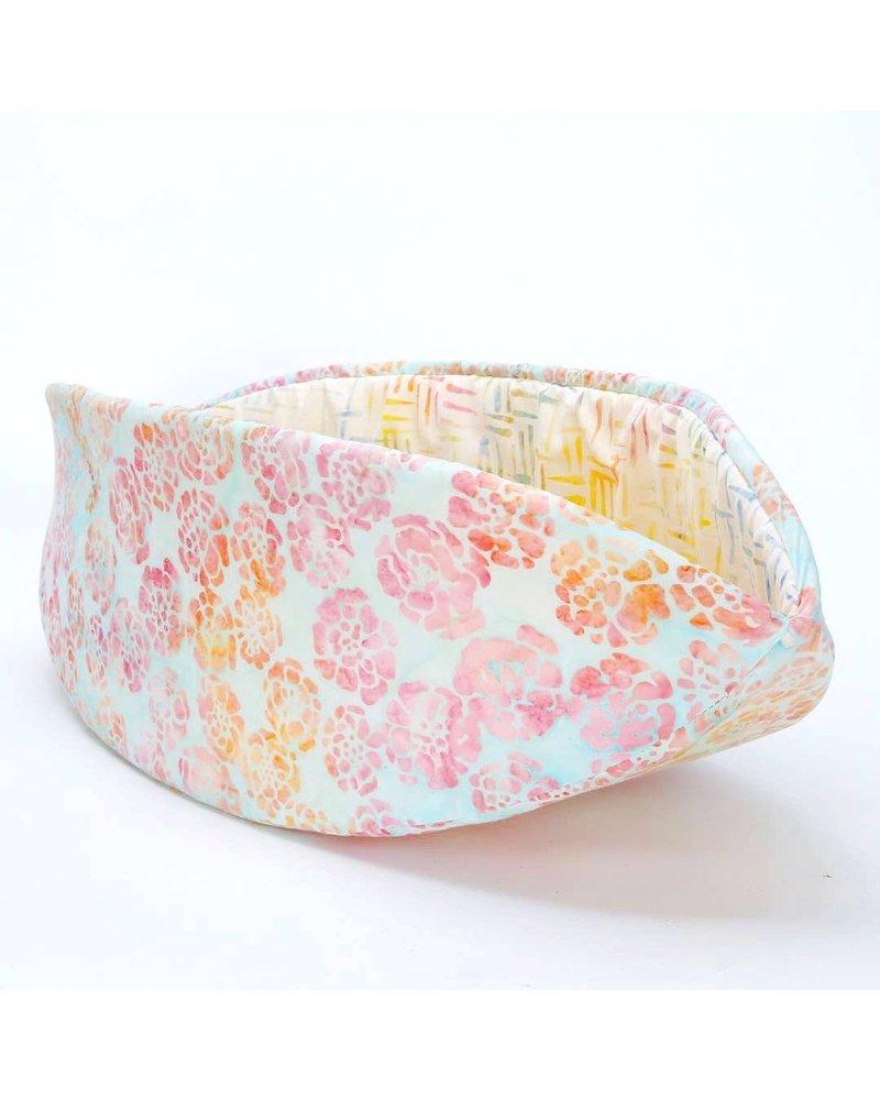 The Cat Ball Canoe Bed Rainbow Pastel Batik