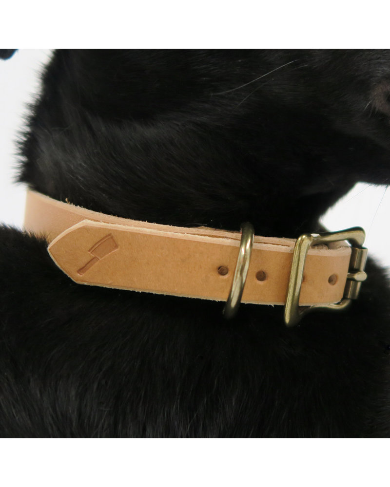 Choice Cuts Leather Collar, Sand