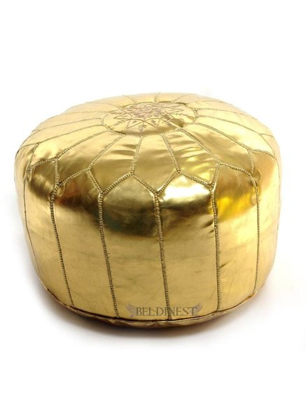 Moroccan Pouf Bed, Gold