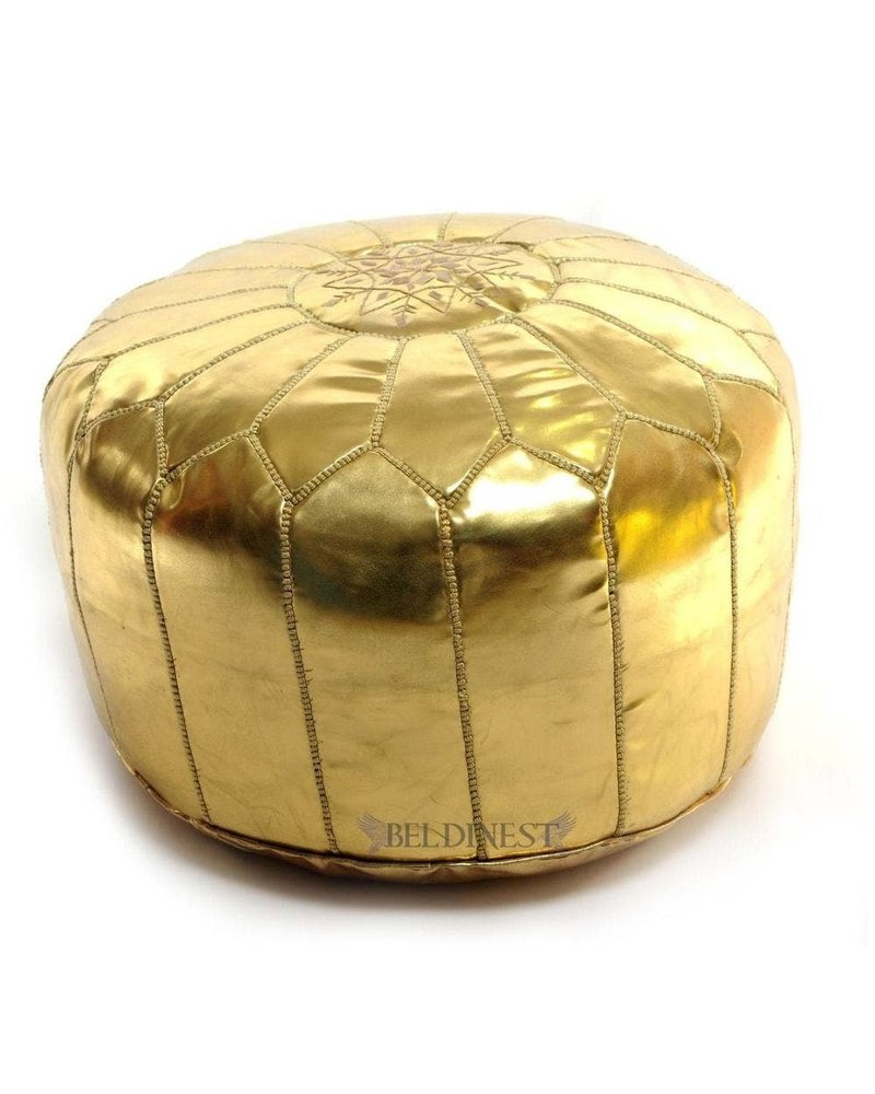 BeldiNest Moroccan Pouf Bed, Gold